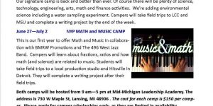 Math and Music Camp 2016